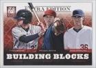 Tyler Naquin, Michael Wacha, Ross Stripling Robert Stephenson, Robert Stock, St. Louis Cardinals, Cleveland Indians, Colorado Rockies (Baseball Card) 2012 Elite Extra Edition Building Blocks Trio #2