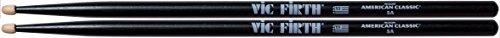 vic-firth-5ab-american-classic-black-5a-wood-tip-drumsticks