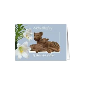 Lionfather on Amazon Com  Easter  Mother And Father  The Lion And The Lamb Card