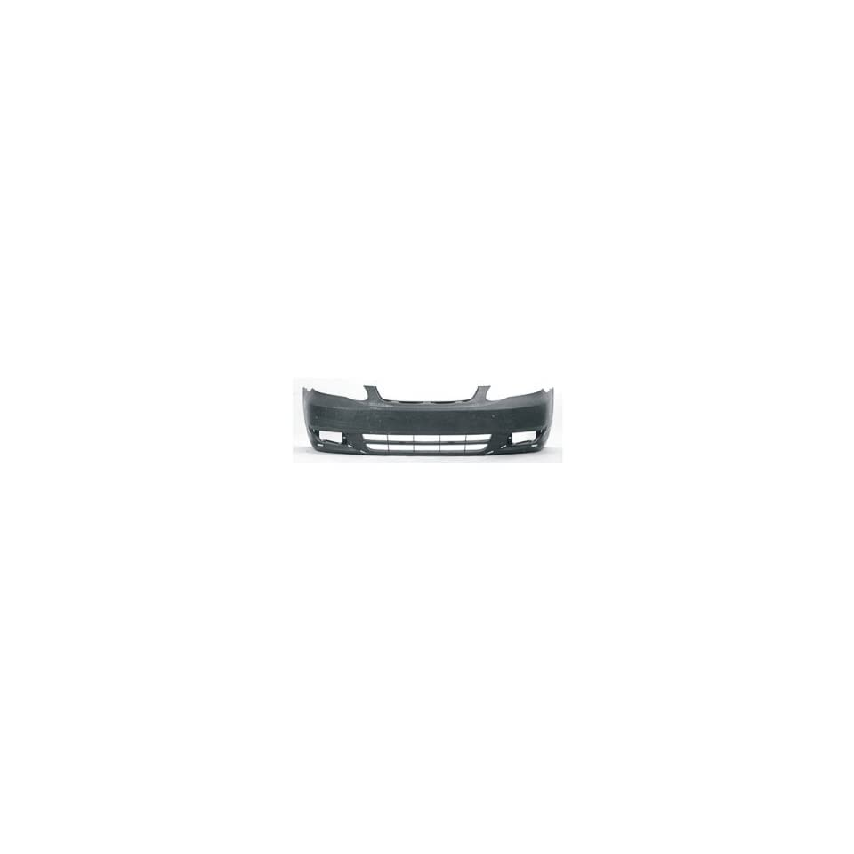 2004 Toyota Corolla Front Bumper Painted 1C3 Gray Mica, Without Ground Effects, Except S model