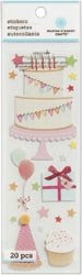 Martha Stewart Dimensional Stickers-Cake &amp; Cupcake Birthday; 3 Items/Order