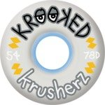 Buy Krooked Klear Krusherz Clear Skateboard Wheels - 58mm 78a (Set of 4) by Krooked
