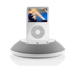 JBL On Stage Micro White Speakers For iPod with dock connector (iPod 3G, 4G, 5G, photo, mini, nano, touch, classic, iPhone) iPod speakers MP3 speakers
