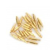 LSON 15 x 0.8mm Gold-Plated Copper Current Pins - Golden (25 PCS) Golden
