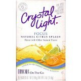 Crystal Light On The Go Focus Citrus Splash, 10-Count Boxes (Pack of 3) 30 Packets Total by Crystal Light
