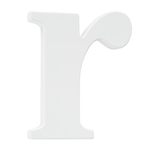 Koala Baby Lowercase Wall Letter R - White
