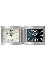 Emporio Armani AR6003 Dual Time Dial Double Desk Alarm Clock