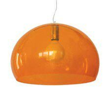 Kartell Fly Ceiling Suspension Light Transparent Orange