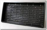 "5 Pack of Durable Black Plastic Growing Trays (with holes) 21"" x 11"" x 2"" - Planting Seedlings, Flowers, Wheatgrass"