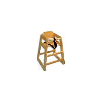 Adcraft HCW-1 Natural Solid Hardwood High Chair, Set Up - 1