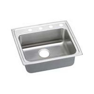 "Elkay LRADQ221945X 18 Gauge Stainless Steel 22"" x 19.5"" x 4.5"" Single Bowl Top Mount Kitchen Sink"