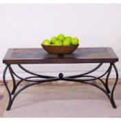 Santa Fe Slate/ Metal Coffee Table