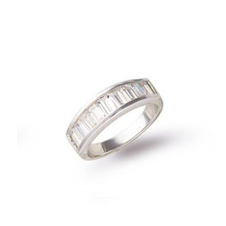 Sterling Silver CZ Eternity Ring - Setting 20mm x 5mm