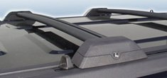 Hummer H3 Black Roof Rack Cross Bars from OC Parts - Fits the 2006, 2007, 2008, 2009, 2010, 2011 Hummer H3 (Luggage Rack Hummer H3 compare prices)
