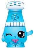 2014 SHOPKINS FIGURES Shopping Bag- SALLY SHAKES #018 SEASON 1 - RARE