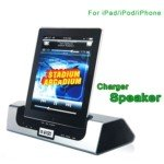 Stylish Dock Charger Speaker System For Ipad 2 / Iphone 4 4S / Ipod