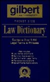 Pocket Size Law Dictionary--Blue