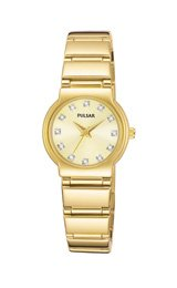 Pulsar Crystal Collection Swarovski® Markers Champagne Dial Women's watch #PTC426