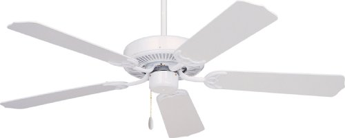 Emerson Cf700Ww Builder Indoor Ceiling Fan, 52-Inch Blade Span, Appliance White Finish And Appliance White/Bleached Oak Blades