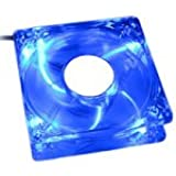 Revoltec PC-Lüfter Dark Blue beleuchtet mit 4 LEDs blau