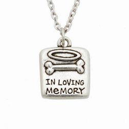 Rockin' Doggie Pewter Memorial Necklace, In Loving Memory by Rockin' Doggie