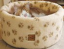 Danish Design Pet Products Cat Cosy Fleece Bed Cream Medium 50cm