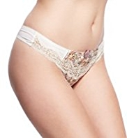 Limited Collection Low Rise Floral Thongs