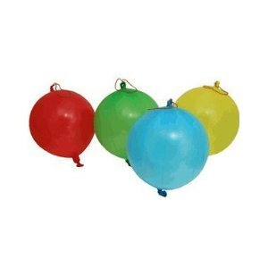 Classic Punch Ball Balloon - 8 Pack - Assorted Colors