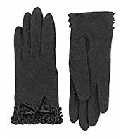 Per Una Wool Rich Ruffle & Bow Gloves with Angora