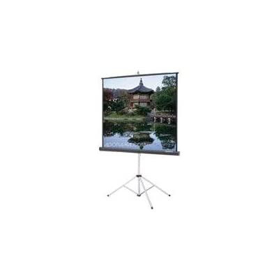 Da-Lite Picture King - Projection screen with tripod - 71 in ( 180 cm ) - 1:1 - Silver Matte