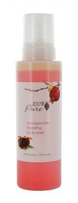 100% Pure Organic Pomegranate Hydrating Body Wash 17 oz