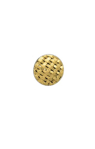14K Yellow Gold Basket Weave Tie Tac-87064