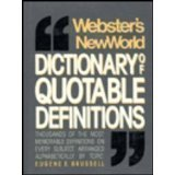 img - for Webster's New World Dictionary of Quotable Definitions book / textbook / text book