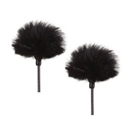 Mini Windcutter Microphone Windscreen For Small Lavalier Mics (Set Of Two) - Reduce Wind Noise Rumble!