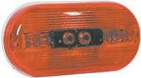 Truck-Lite Shock/Mount Two Bulb - Bulb Replaceable Red 1259