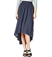 M&S Collection Wide Waistband Elliptical Hem Skirt