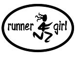 Runner Girl Oval Magnet