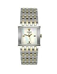 Tissot Six-T Gold PVD Square Mother-of-Pearl Dial Women's Watch #T02.5.181.85
