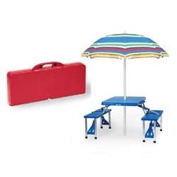 Folding Picnic Table Red (Red) (26