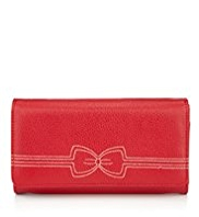 M&S Collection Contrast Bow Stitch Large Purse