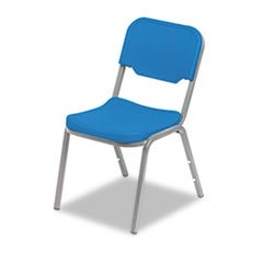 * Rough N Ready Original Stack Chair, Resin, Blue/Gray, 4/Carton front-506791