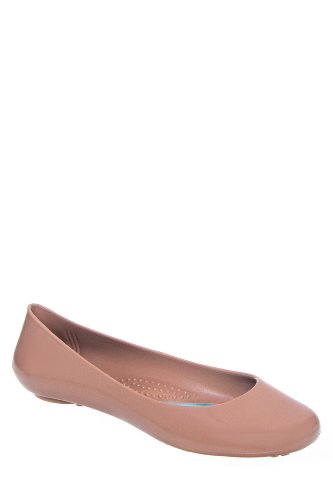 Taylor Round Toe Jelly Flat Shoe
