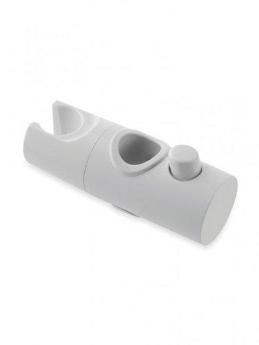 22mm White Shower Head Holder Slider Bracket For 22mm Riser Rail