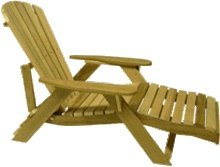 Bear Chair Outdoor Adjustable Adirondack Lounge - Pine