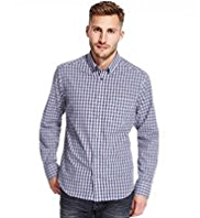 Pure Cotton Easy Care Mini Checked Shirt
