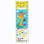 Children's Giraffe Height Chart with pen and stickers