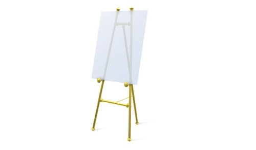 Testrite Visual Products 650 Elegant Easels Baroque Easel- Brass
