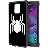 Spider Man Logo Samsung Galaxy Note 4 Case Black Rubber FI