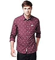 North Coast Pure Cotton Slim Fit Bicycle Print Shirt