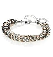 Autograph Mixed Metal Disc Diamanté Bracelet